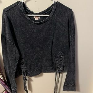 Ash black cropped sweater